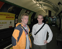 David and Travis in the Tube