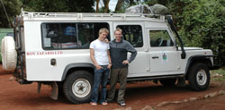 David and Travis at Ngorongoro Crater